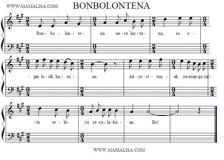 Partitura - Bonbolontena