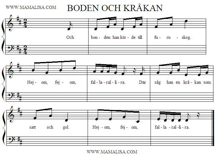Sheet Music - Bonden Och Kråkan