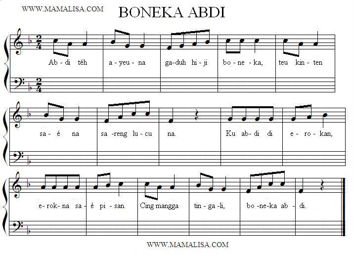 Partition musicale - Boneka Abdi