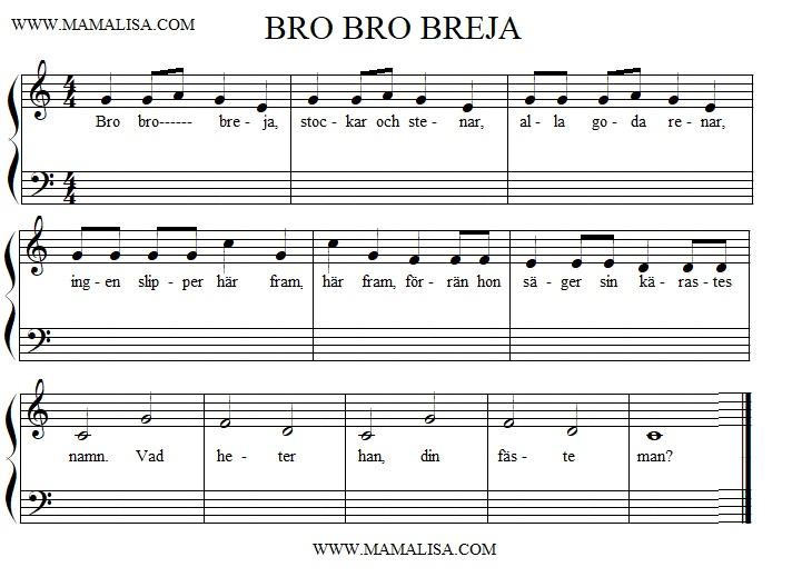 Sheet Music - Bro bro breja