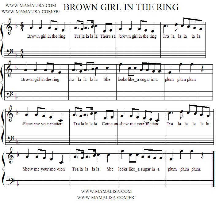 Partition musicale - Brown Girl in the Ring