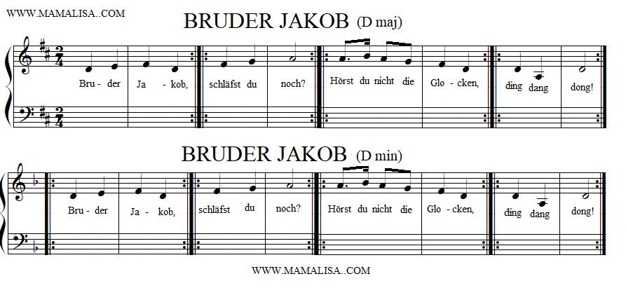 Partitura - Bruder Jakob