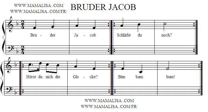 Partition musicale - Bruder Jacob
