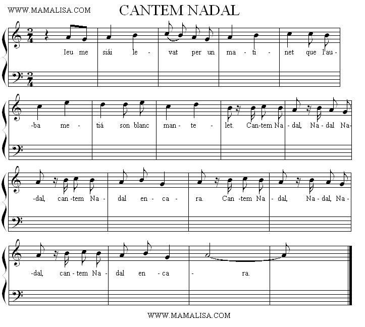 Sheet Music - Cantem Nadal