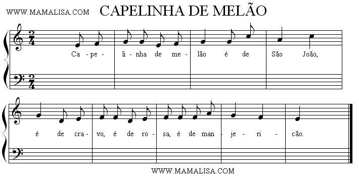 Sheet Music - Capelinha de melão