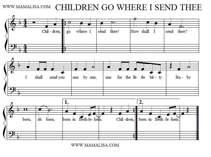 Sheet Music - Children, Go Where I Send Thee