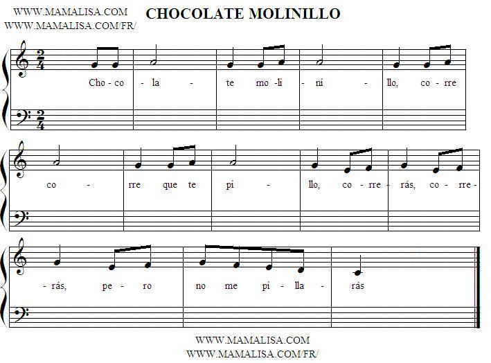 Sheet Music - Chocolate, molinillo