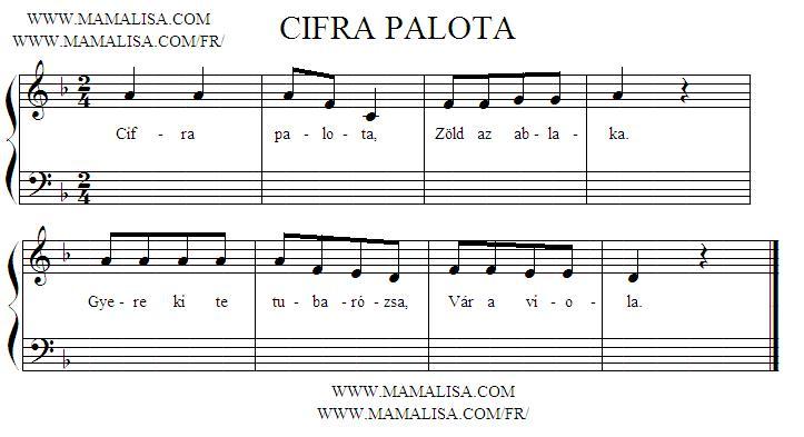Sheet Music - Cifra palota