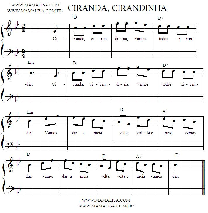 Sheet Music - Ciranda, Cirandinha