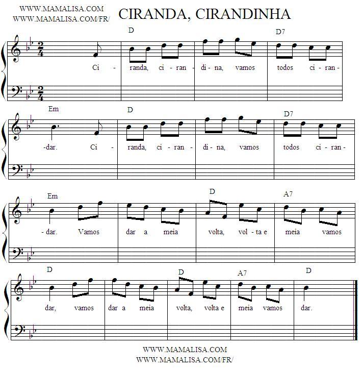 Sheet Music - Ciranda, Cirandinha