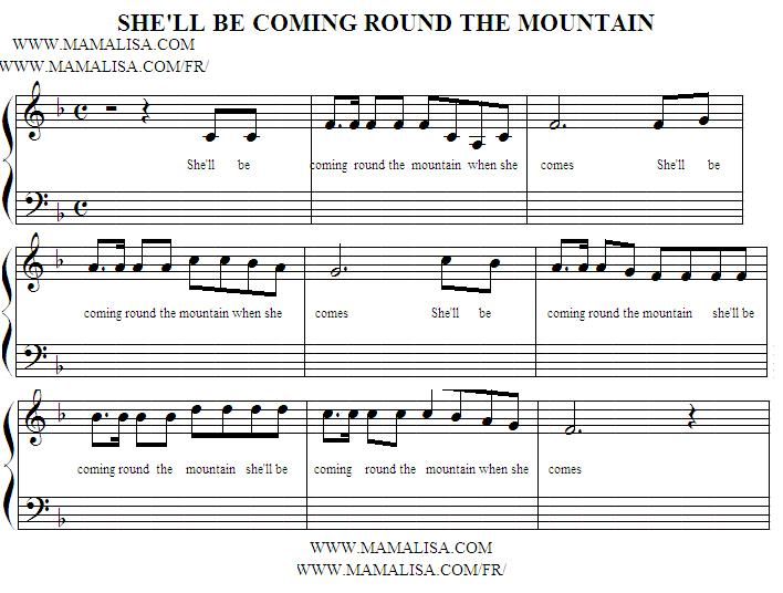 Sheet Music - She'll Be Coming Round the Mountain