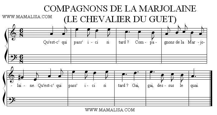 Partition musicale - Compagnons de la Marjolaine