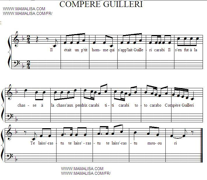 Sheet Music - Compère Guilleri