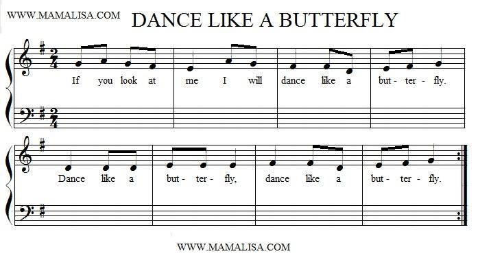 Sheet Music - Dance Like a Butterfly