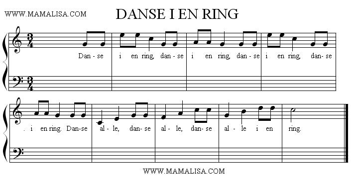Partitura - Danse i en ring