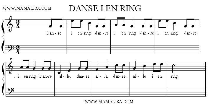 Sheet Music - Danse i en ring