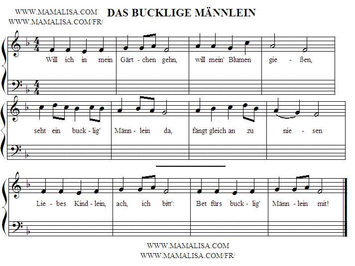 Sheet Music - Das bucklige Männlein