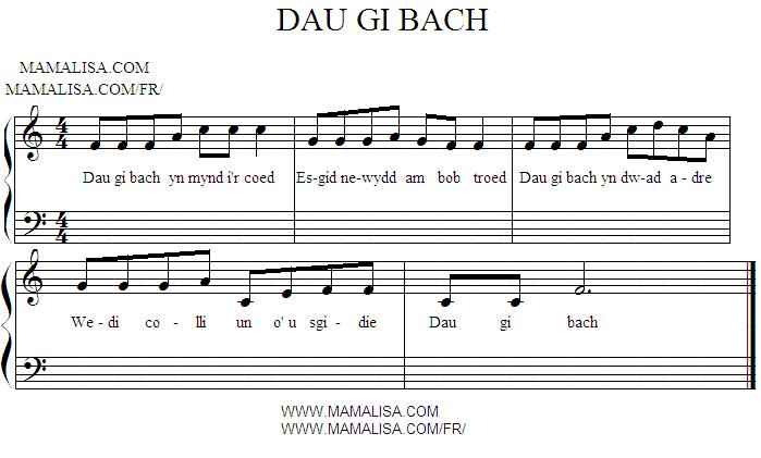 Sheet Music - Dau gi bach