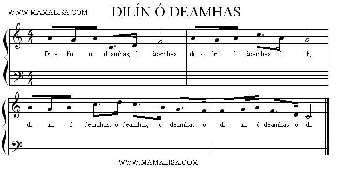 Sheet Music - Dilín ó deamhas