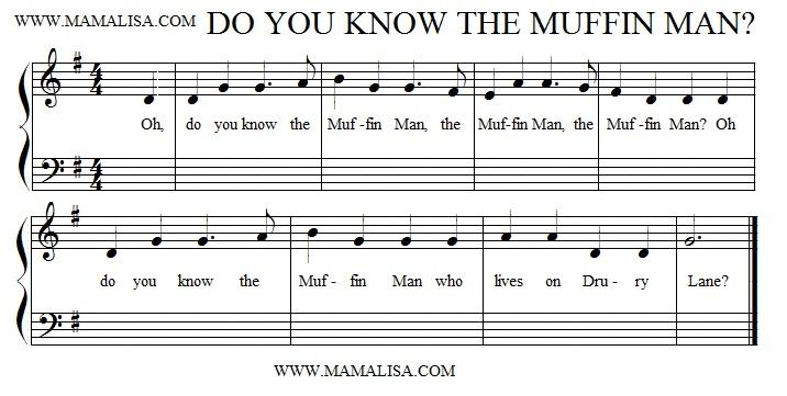 Sheet Music - The Muffin Man