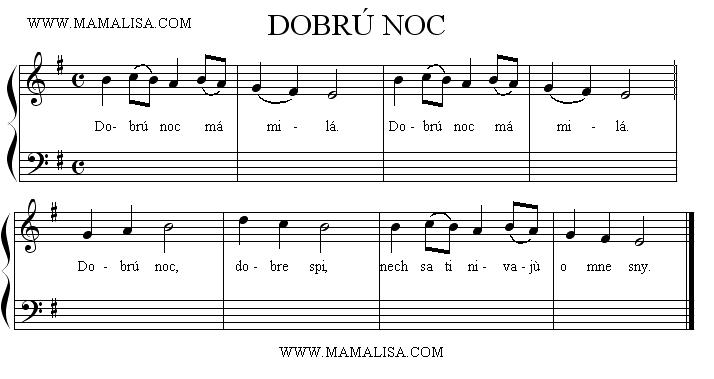 Sheet Music - Dobrú noc