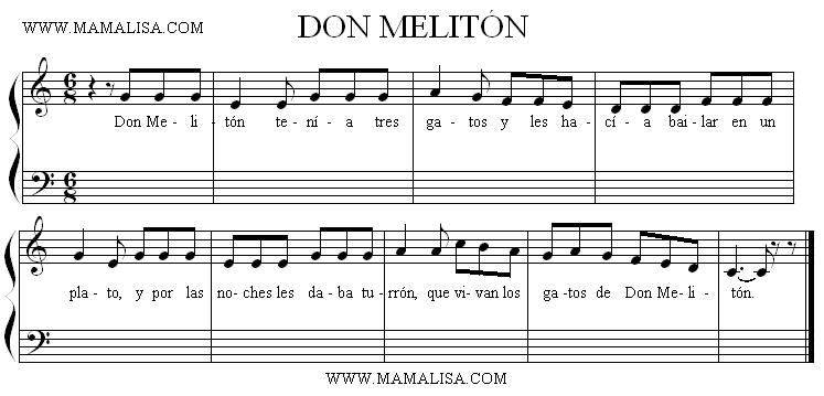 Sheet Music - Don Melitón