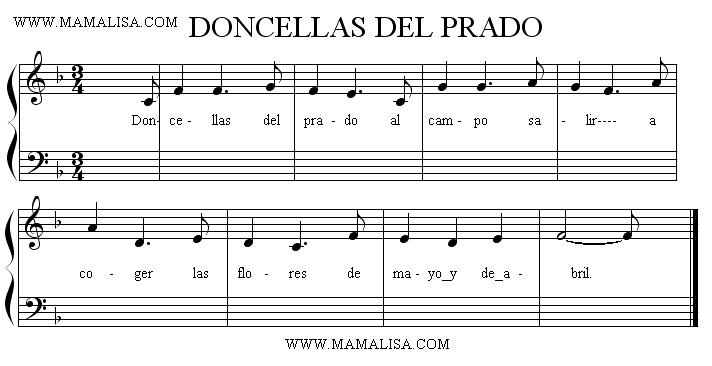 Sheet Music - Doncellas del prado