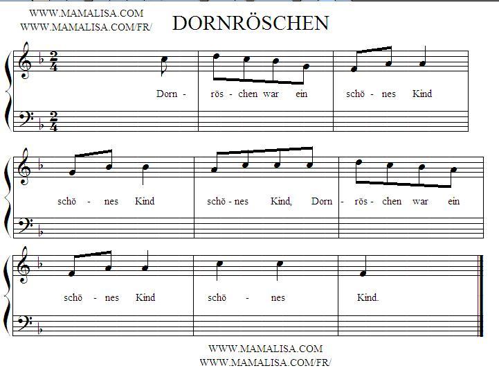 Sheet Music - Dornröschen