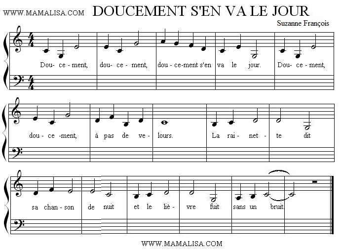 Sheet Music - Doucement s'en va le jour
