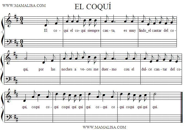 Sheet Music - El coquí