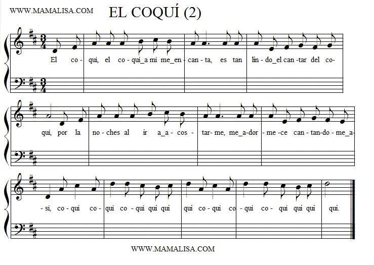 Sheet Music - El coquí (Versión 2)