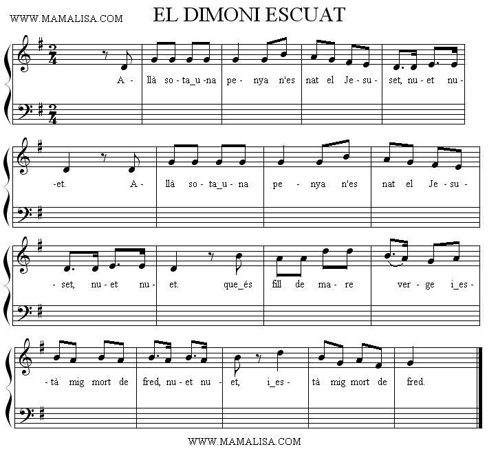 Sheet Music - El dimoni escuat