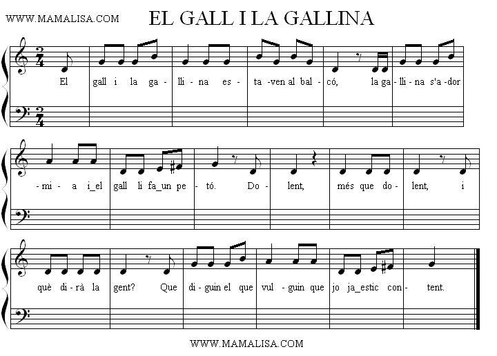 Sheet Music - El gall i la gallina
