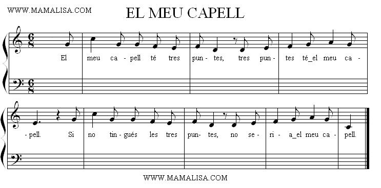 Sheet Music - El meu capell