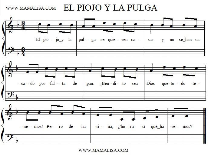 Sheet Music - El piojo y la pulga