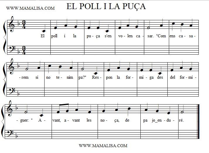 Sheet Music - El poll i la puça