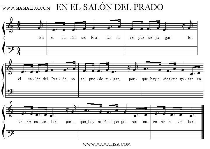 Sheet Music - En el salón del Prado