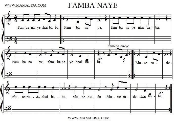 Sheet Music - Famba Naye