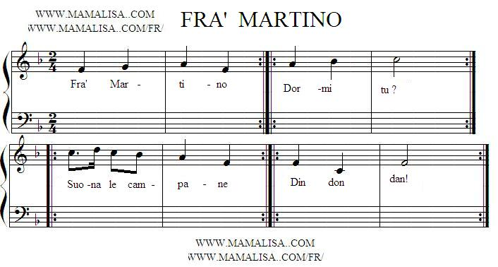 Sheet Music - Fra' Martino