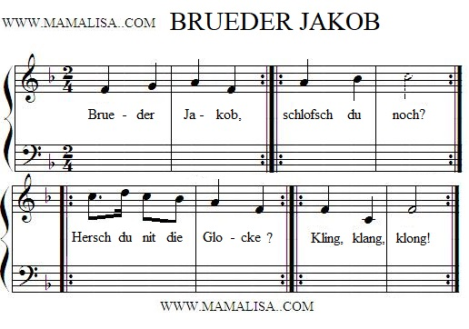Partition musicale - Brueder Jakob