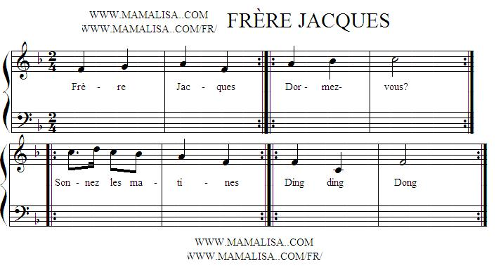 Sheet Music - Frère Jacques