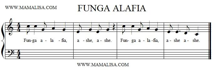 Sheet Music - Fanga Alafia