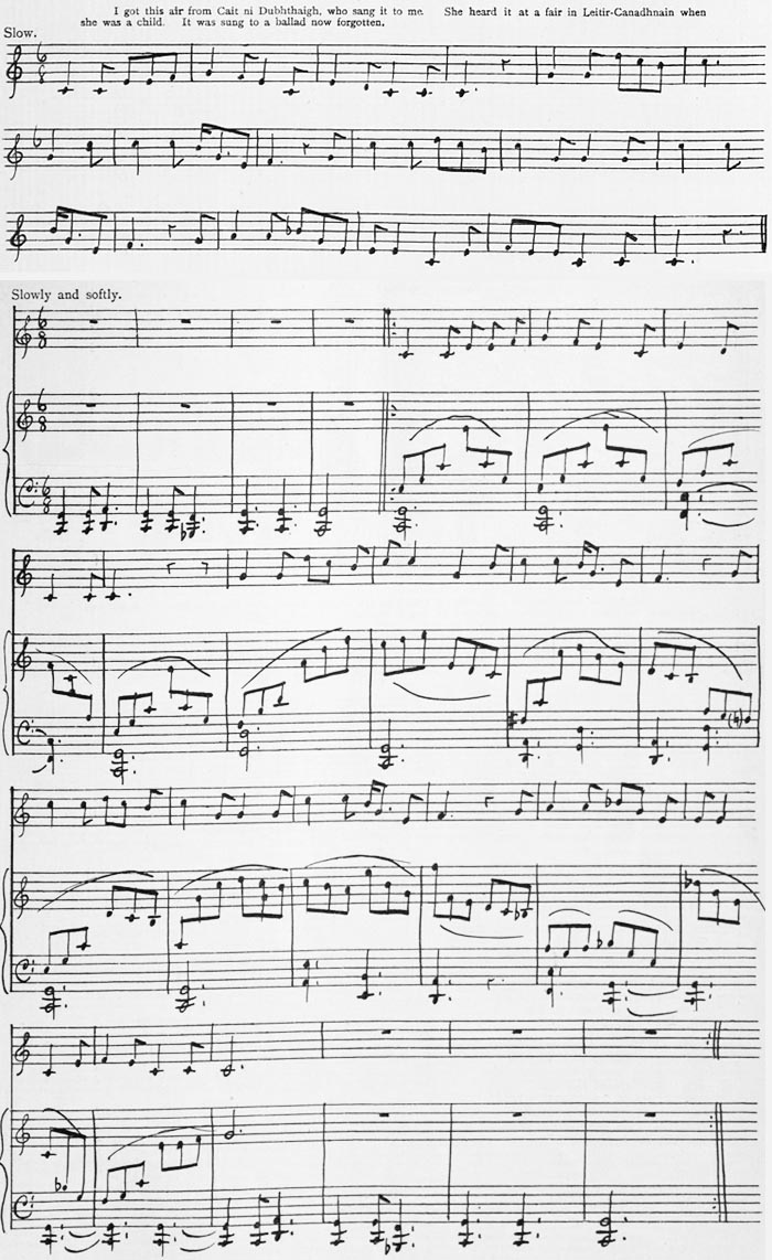 Sheet Music - The Gartan Mother's Lullaby