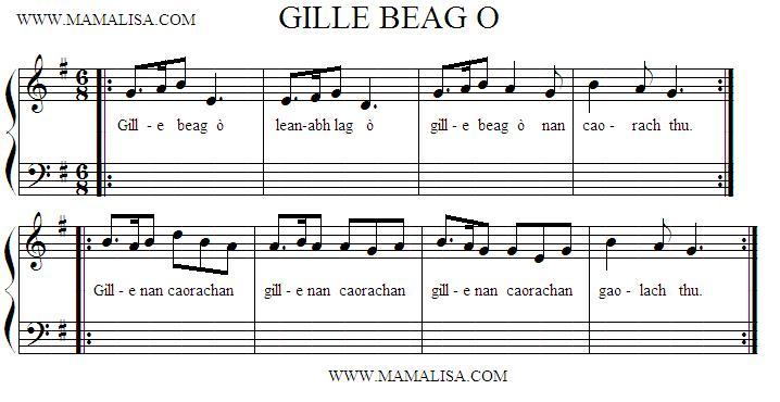 Partition musicale - Gille Beag Ò
