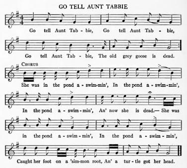 Sheet Music - Go Tell Aunty Nancy