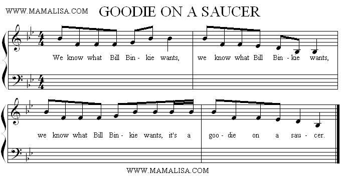 Sheet Music - Goodie on a Saucer