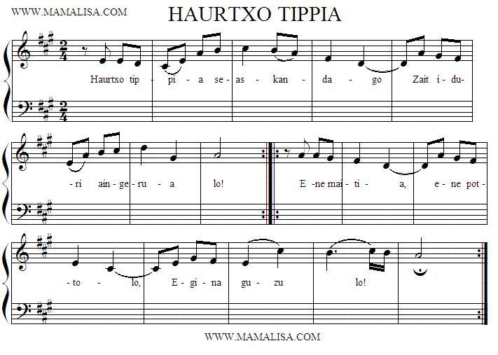 Sheet Music - Haurtxo ttipia