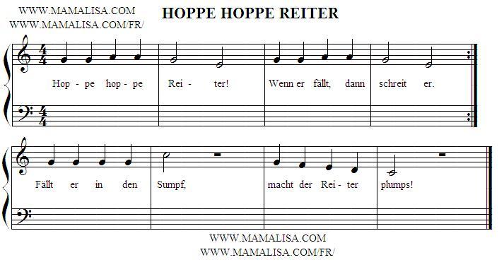Sheet Music - Hoppe, hoppe, Reiter