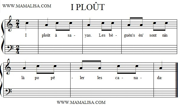 Sheet Music - I ploût