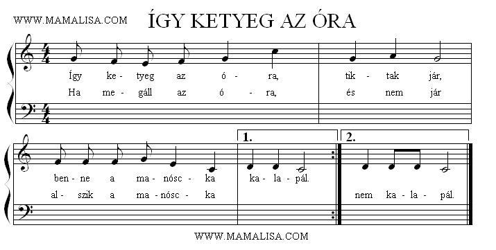 Partition musicale - Így ketyeg az óra